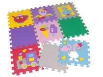 Tapete de Atividades EVA Mingone - Tatame Infantil 9 Peças 30x30cm cada