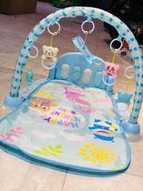 Tapete de Atividades Ginásio de Bebês com Piano Musical e brinquedos - AZUL - Gfone