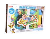 Tapete de Atividades Infantil Bebê Acolchoado 82x62cm com Almofada - Meying -