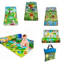 Tapete De Atividades Infantil C/ Bolsa 2,00x1,80m Dupla Face - A Hora De Aprender Toys -