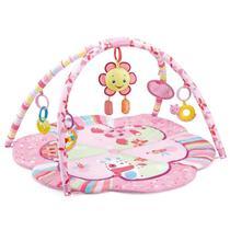 Tapete de atividades infantil Mastela Rosa Flor Animais - 8068 Ibimboo -