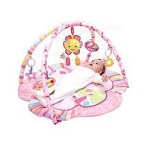 Tapete de Atividades Infantil Rosa Flor Animais - Mastela -