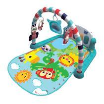Tapete de Atividades Musical Piano Safari Maxi Baby - Azul -