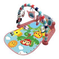 Tapete de Atividades Musical Piano Safari Maxi Baby - Rosa -