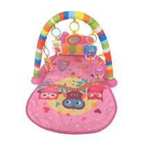 Tapete de Atividades para Bebê Joy Piano Musical Rosa - Color baby -