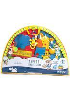 Tapete De Atividades Para Bebê Redondo Animais Da Selva 2253 - Dican -