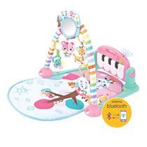 Tapete de Atividades para Bebês com Piano e Bluetooth Pastime 2.0 Maxibaby - Rosa - Maxi Baby