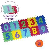 Tapete de Atividades Tatame Infantil Colorido Numeros com 10 Pecas  Mor -