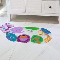 Tapete de banho para box Antiderrapante - Infantil 69x39 Zoo - Perfitec