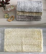 Tapete de Bolinha Antiderrapante 40cm x 60cm Chenille Silver Bouton -