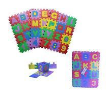 Tapete de eva letras e números 36 peças 7x7,5cm - 20 Comercial