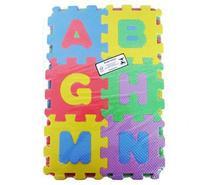 Tapete de eva numeros/letras com 36 pecas 12x12cm - 20 Comercial