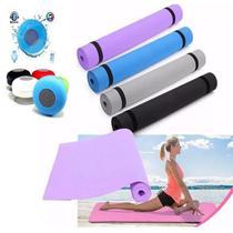 Tapete de Ginástica Yoga  + caixinha de som Bluetooth - Tomate
