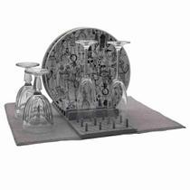 Tapete de Louças Microfibra 50 x 38 cm Com Escorredor Wenx Home -