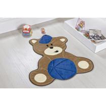 Tapete de Pelúcia Infantil para Bebê Urso Antiderrapante - Guga tapetes