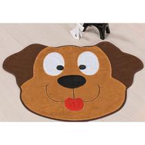 Tapete de Pelúcia Infantil para Decoração Antiderrapante Formato Cachorro Feliz 78cm x 55cm - Guga tapetes