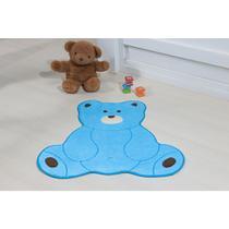Tapete de Pelúcia para Quarto Infantil Formato Urso Fofo Antiderrapante - Guga Tapetes