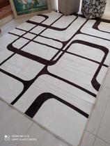 tapete de sala indiano 2x1,40 alto relevo estampado - Costa Oro
