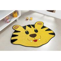 Tapete Decorativo Infantil Base Antiderrapante Formato Tigre - Guga tapetes