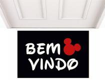 Tapete Divertido Casa Dos Capacho Bem Vindo Disney - Casa Dos Capachos -