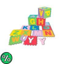 Tapete Educativo Peças Grandes Alfabeto em EVA 26 Placas NIG - Nig Brinquedos