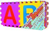 Tapete em EVA Alfanumérico 8mm 36 Peças - antialérgico, atóxico, lavável, texturizado Mingone cod 91 -
