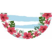 Tapete Em Lona Decorativo Meia Lua Tropical Listras Azuis - Fabrika de festa