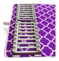 Tapete Escorredor De Louça Com Suporte Microfibra - Roxo - Limpeza Inteligente