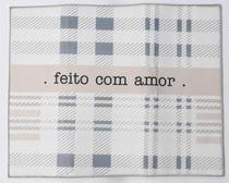 Tapete Escorredor de Louça Frase Feito com Amor 49x39 cm - Fwb