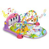 Tapete Estimulador De Bebê Musical Toca Piano Happy Rosa - Color Baby -