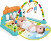 Tapete Estimulador De Bebê Musical Toca Piano Villa -  Verde - Color Baby -