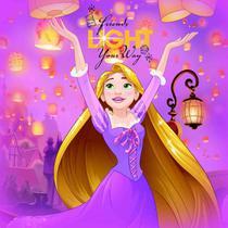 Tapete Eva DTC Rapunzel - Disney Princesas -