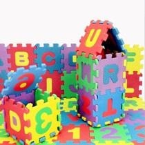 Tapete Eva Educativo 36 Pçs Abc Número Alfabeto 9x9cm - Dt