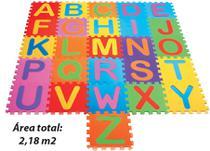 Tapete EVA Tatame Alfabeto Texturizado 26 Pecas - Mingone