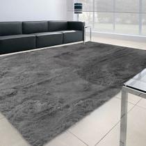 Tapete Felpudo Apolo Soft Casa Dona Cinza 100x150cm -