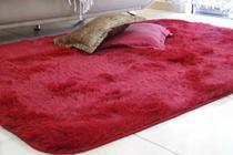 Tapete felpudo macio sala e quarto 2,00 x 1,40m vermelho vinho cereja - Enxovais M&C
