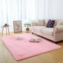 Tapete felpudo macio sala e quarto 2,00x1,40 rosa bebê - Bh Enxovais