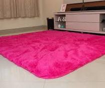 Tapete felpudo macio sala e quarto 2,00x1,40 rosa pink - Bh Enxovais