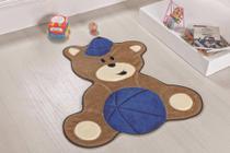 Tapete Formato Baby Antiderrapante Urso Baby - Azul Royal - Casa Completa Enxovais
