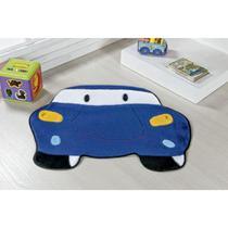 Tapete Formato Carro Azul Royal  - 100 Poliéster - Guga Tapetes