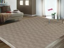 tapete grande 100% algodão 2,00m x 1,40m  tapete sala quarto antialérgico lavável ATENAS BEGE / CRU - Gouvea Textil
