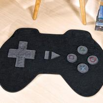 Tapete Grande Infantil Pelúcia Controle Vídeo Game Premium Antiderrapante - Preto - Guga Tapetes