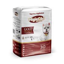 Tapete Higiênico HigieCão Gold Premium 58X60 para Cães - 30 Unidades -