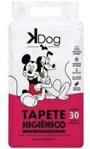 Tapete Higiênico Kdog Mickey E Amigos Cães 80x60cm C/ 30un -