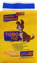 Tapete Higiênico Para Cães Toro Pets 80x60cm - 30 Unidades -