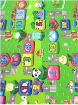 Tapete Infantil Bebê Atividade Educativo 1,80mtx1,15mt Tema PISTA CARRINHO - Dony