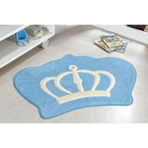 Tapete Infantil com Pelúcia Antiderrapante Formato de Coroa - Guga Tapetes