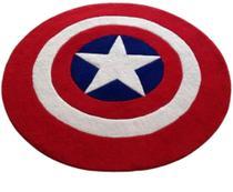 Tapete infantil escudo capitão américa pelúcia quarto decoração lindos - BeeMania