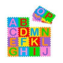Tapete Infantil Eva Alfabeto Kit C/26 Unidades 28x28 - Evamax