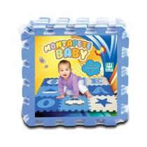 Tapete Infantil Eva Letras Azul 9 Placas 0812 - Nig -